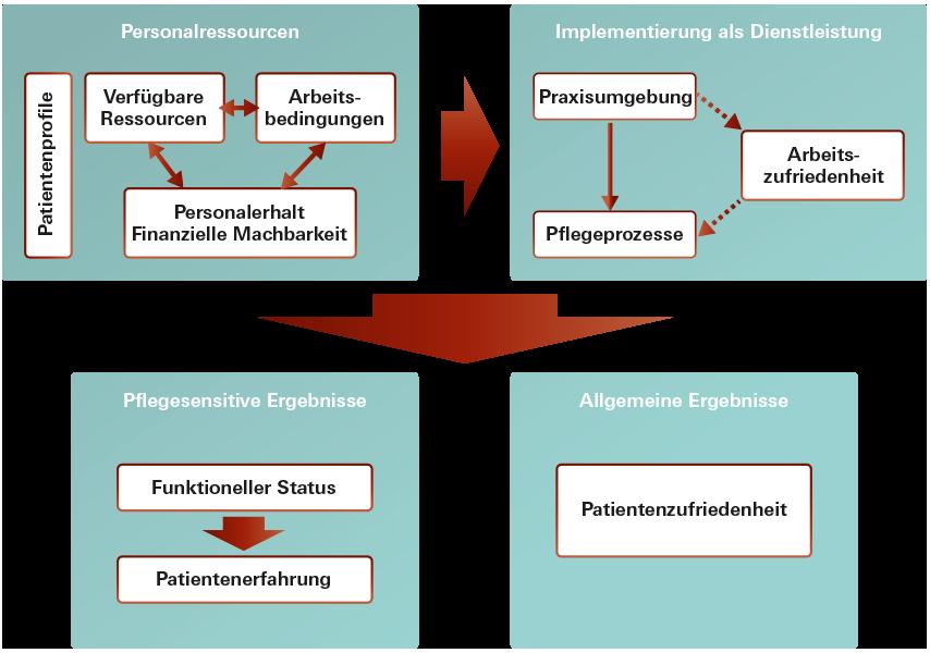 Modell zur Messung von Pflegeleistungen und Pflegequalität nach Dubois (2013)
